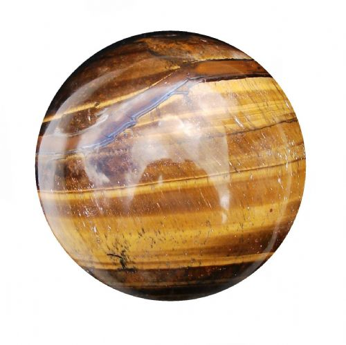 Tiger Eye Golden Gemstone Fortune Telling Crystal Sphere 63mm 350g (TE7)